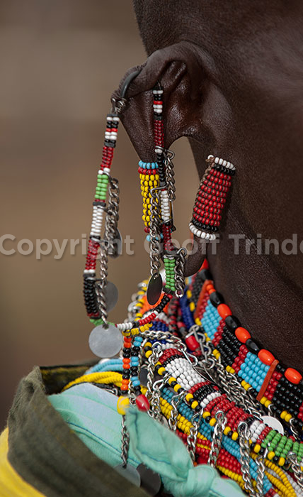 Close up Masai Old Lady
