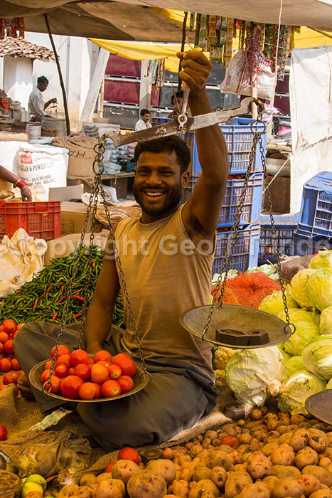 Indian stall-holder